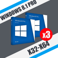 Windows 8.1 Professional (x32-x64) 3ПК